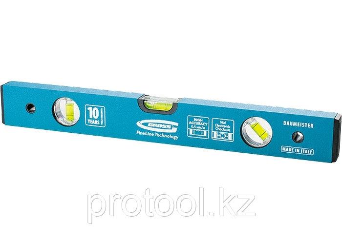 Уровень алюминиевый усиленный, 1800 мм, 3 глазка// GROSS