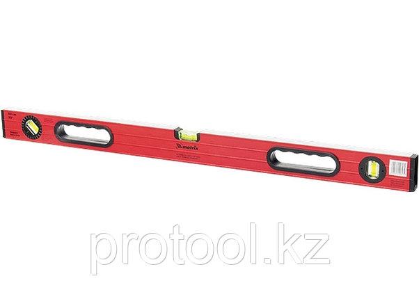 Уровень алюминиевый, 1000 мм,  фрезерованный, 3 глазка (1 поворотный), две ручки, усиленный// MATRIX, фото 2