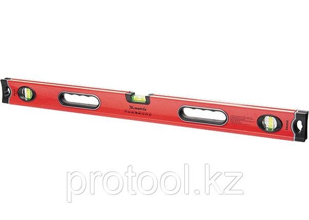 Уровень алюминиевый, 1000 мм, 3 глазка, ударопрочные заглушки, двухкомпонентные ручки// MATRIX PROFI, фото 2