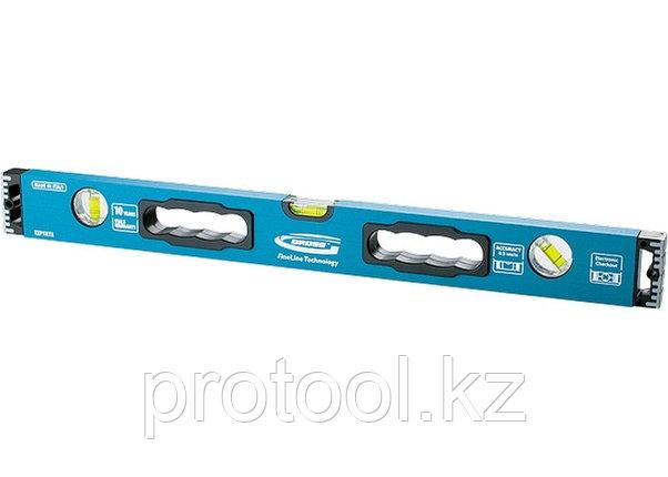 Уровень алюминиевый, 1200 мм, 3 глазка, ударопрочные заглушки, двухкомпонентные ручки// MATRIX PROFI, фото 2