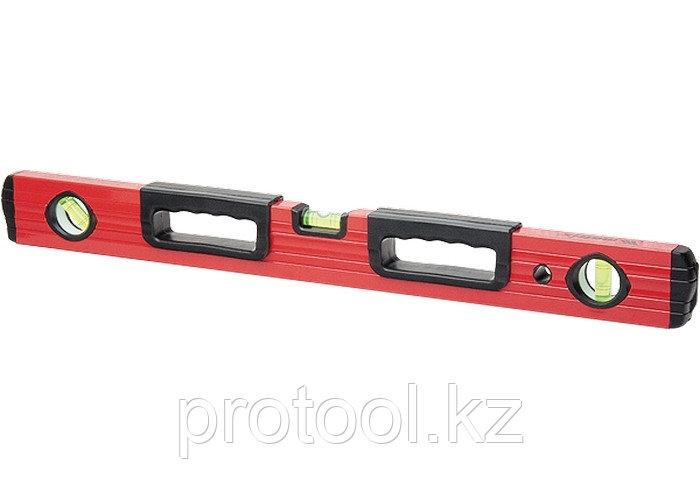 Уровень алюминиевый, 1200 мм, фрезерованный, 3 глазка, 2 эргономичные ручки// MATRIX