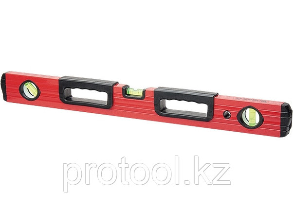 Уровень алюминиевый, 1200 мм, фрезерованный, 3 глазка, 2 эргономичные ручки// MATRIX, фото 2
