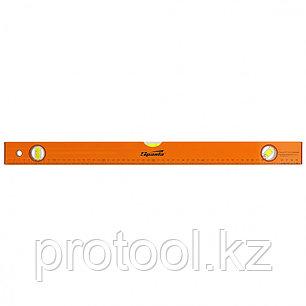 Уровень алюминиевый, 600 мм, 3 глазка, желтый, линейка// SPARTA, фото 2