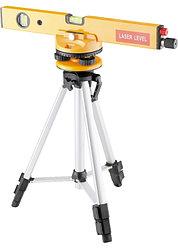 Уровень лазерный, 400 мм, 1050 мм штатив 3 глазка, набор (база, 2.линзы) в пласт. боксе// MATRIX
