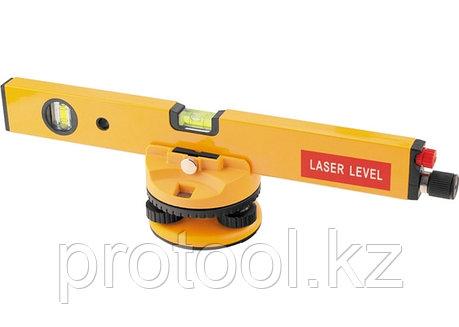 Уровень лазерный, 400 мм, 850 мм штатив, 3 глазка, (база, 2 линзы, очки) в пласт. боксе// MATRIX, фото 2