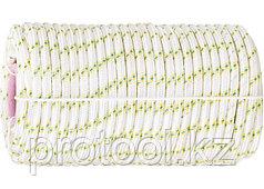Фал плетёный капрон 16-прядный с капрон. серд. 6 мм, бухта 100 м, 650 кгс// СИБРТЕХ//Россия