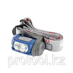 Фонарь налобный Sport, ABS пластик, CREE XP-E LED 3 Вт 120 лм + 3 эко LED, 8-18 часов, 3хААА// Stern