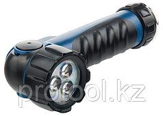 Фонарь светодиодный, противоударный, влагозащищённый,  3 LED, 2хLR20// Stern