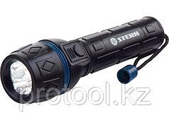 Фонарь светодиодный, ударопрочный корпус, влагозащищённый, 3 LED, 2хАА// Stern