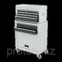Шкаф для инструмента 2-секционный, 600х260х340 мм, 616х330х658 мм, на колесах, 10 ящиков// MATRIX