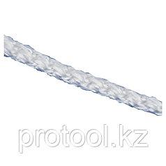 Шнур вязаный полипр. с серд. белый, 4 мм, L20 м, 60-70 кгс// СИБРТЕХ//Россия