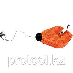 Шнур разметочный, 15 м, пластмассовый корпус// SPARTA