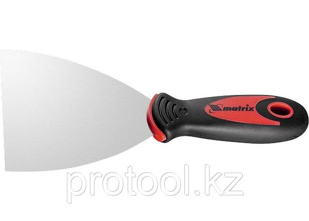 Шпательная лопатка из нержавеющей стали, 120 мм, 2-комп. ручка// MATRIX, фото 2
