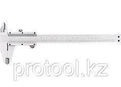 Штангенциркуль, 200 мм, цена деления  0,02 мм, металлический, с глубиномером// MATRIX