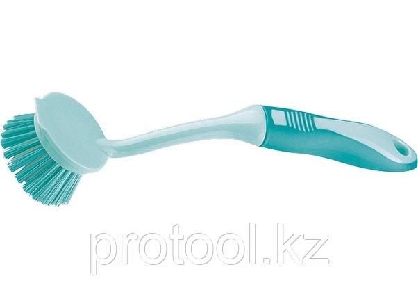 Щетка для посуды круглая d 55*260 мм, двухкомпонентная рукоятка  //ТМ Elfe, фото 2