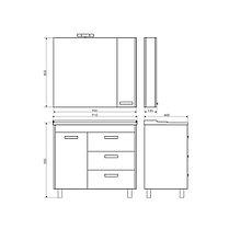 """Шкаф-колонна """"Модена-35"""" белый, фото 3"""