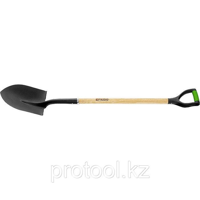 Лопата штыковая, эргономичный черенок из вяза, двухкомп. рукоятка, общая длина 1250 мм// PALISAD