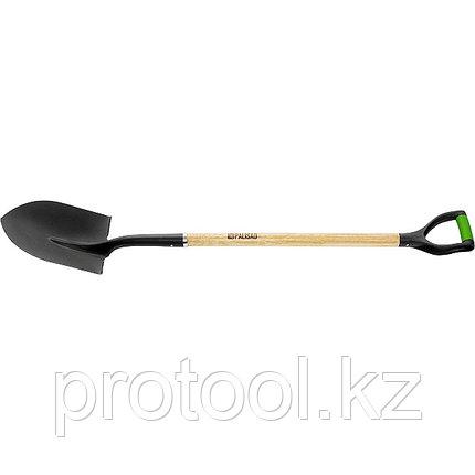 Лопата штыковая, эргономичный черенок из вяза, двухкомп. рукоятка, общая длина 1250 мм// PALISAD, фото 2