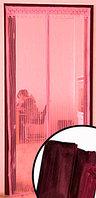 Магнитная противомоскитная сетка для окон и дверей Swiss Line MN-2 100 * 220 см (бардовая)