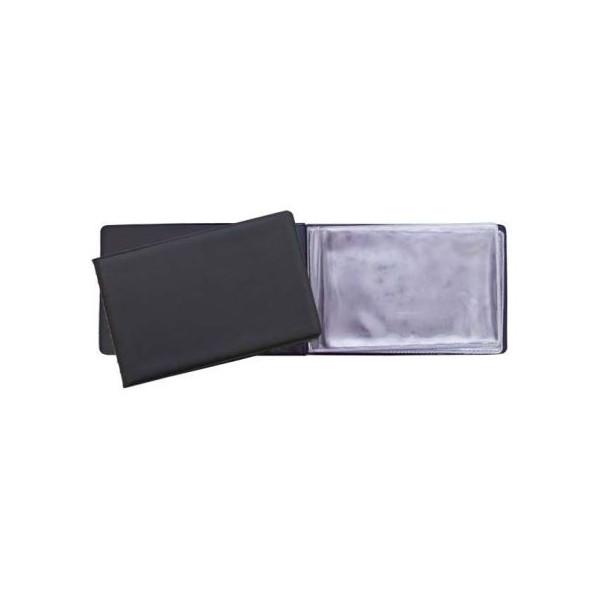Визитница карманная Panta Plast на 24 визитки, разм.7х11,5 см, черная