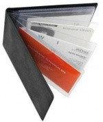 Визитница карманная Panta Plast Vinyl на 24 визитки, разм.7х11,5 см, черная