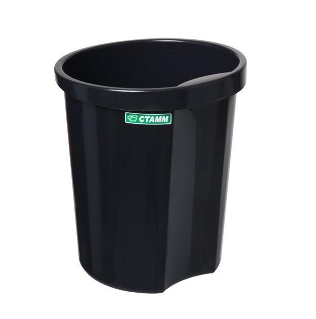 Корзина 12 литров цельная черная (СТАММ КР11)