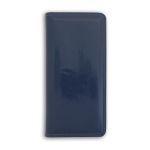 Визитница INDEX на 128 визиток, лакированный кожзам, синяя