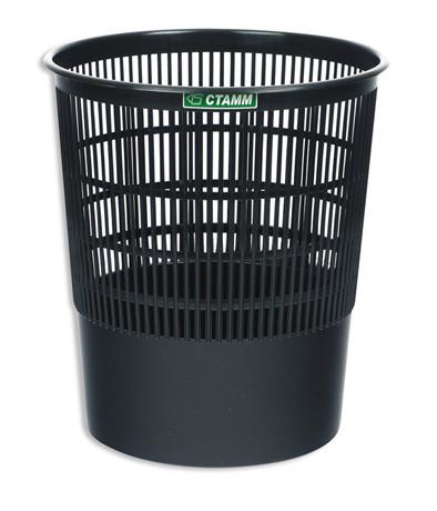 Корзина 18 литров сетчатая черная(СТАММ КР01)