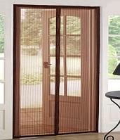 Магнитная противомоскитная сетка для окон и дверей Swiss Line MN-1 120 * 220 см (коричневая)