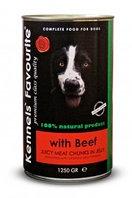 Влажный корм для собак всех пород Kennels' Fovourite кусочки мяса в соусе-желе с говядиной