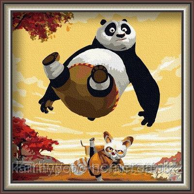 "Картина по номерам ""Кунг фу панда 40х50"""