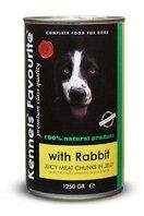 Влажный корм для собак всех пород Kennels' Fovourite кусочки мяса в соусе-желе с кроликом