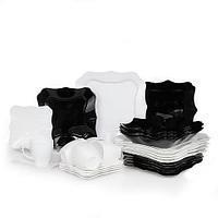 Cервиз столовый  Luminarc Authentic White / Silver Black / Black and White (Authentic White (19 предметов))