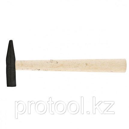 Молоток слесарный, 200 г, квадратный боек, деревянная рукоятка// Россия, фото 2