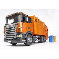 Мусоровоз Scania (цвет оранжевый) 03-560, фото 1