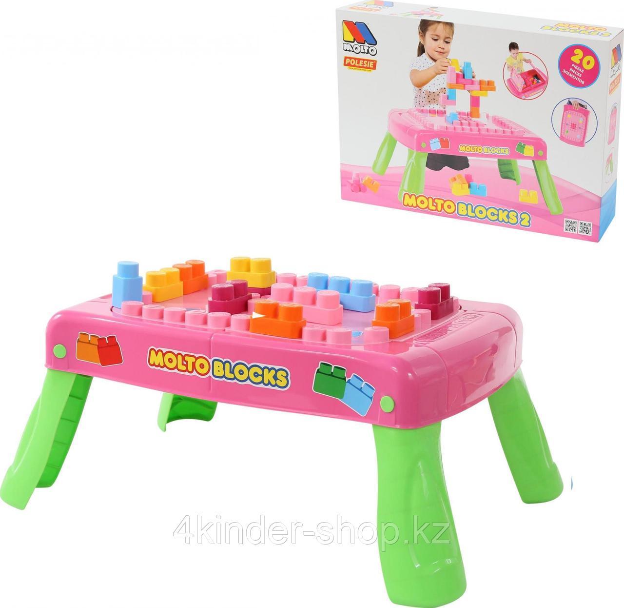 Игровой набор с конструктором в коробке (розовый) - фото 1