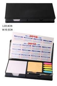 Organizer w/pen: Notepads, colored stickers, calendar 2017-2018