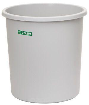 Корзина 18 литров цельная серая (СТАММ КР42)