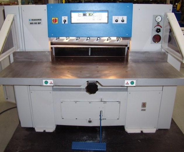 Гидравлическая бумагорезальная машина MAXIMA MS-80BP