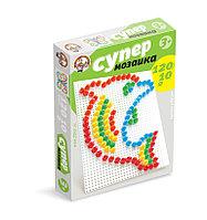 Пластмассовая мозаика для детей «Супер», 120 элементов