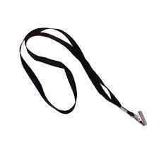Шнурки для бейджей с металлическим карабином 45см, ширина 2см, черный