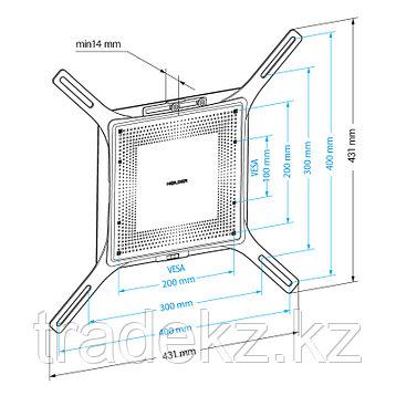 Кронштейн для монитора фиксированный Holder LCD-F4801M-B, фото 2