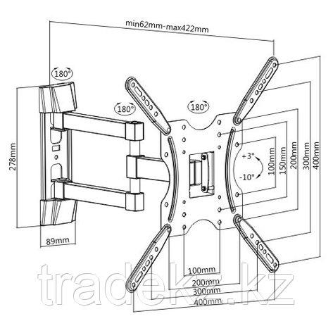Кронштейн для монитора поворотный Brateck KLA27-443, фото 2