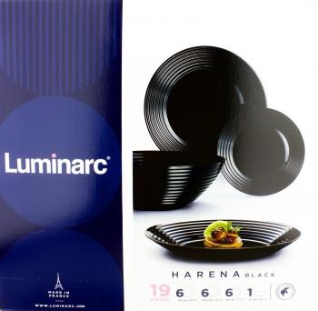 Столовый сервиз Luminarc Harena  black 19 предметов