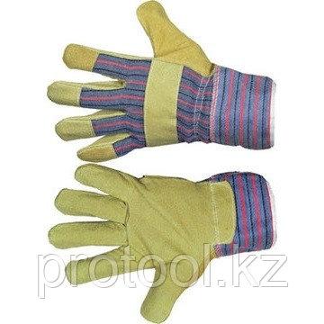 Перчатки спилковые комбинированные// Р, фото 2