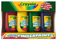 Смываемые краски для рисования пальцами 4 шт. (от 2-х лет), фото 1