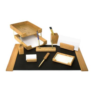 Настольный набор из дерева K9D-1 орех, 9 предметов