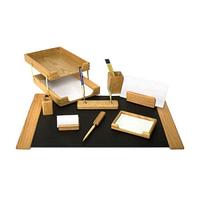 Настольный набор из дерева K9D-1 орех, 10 предметов