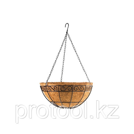Подвесное кашпо с декором, 30 см, с кокосовой корзиной// PALISAD, фото 2