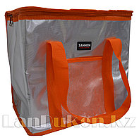 Сумка холодильник 37* 21*31 см (термосумка) оранжевая